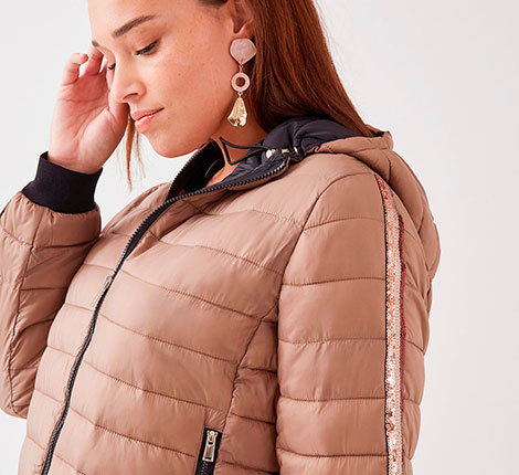 Down jackets and quilted jackets