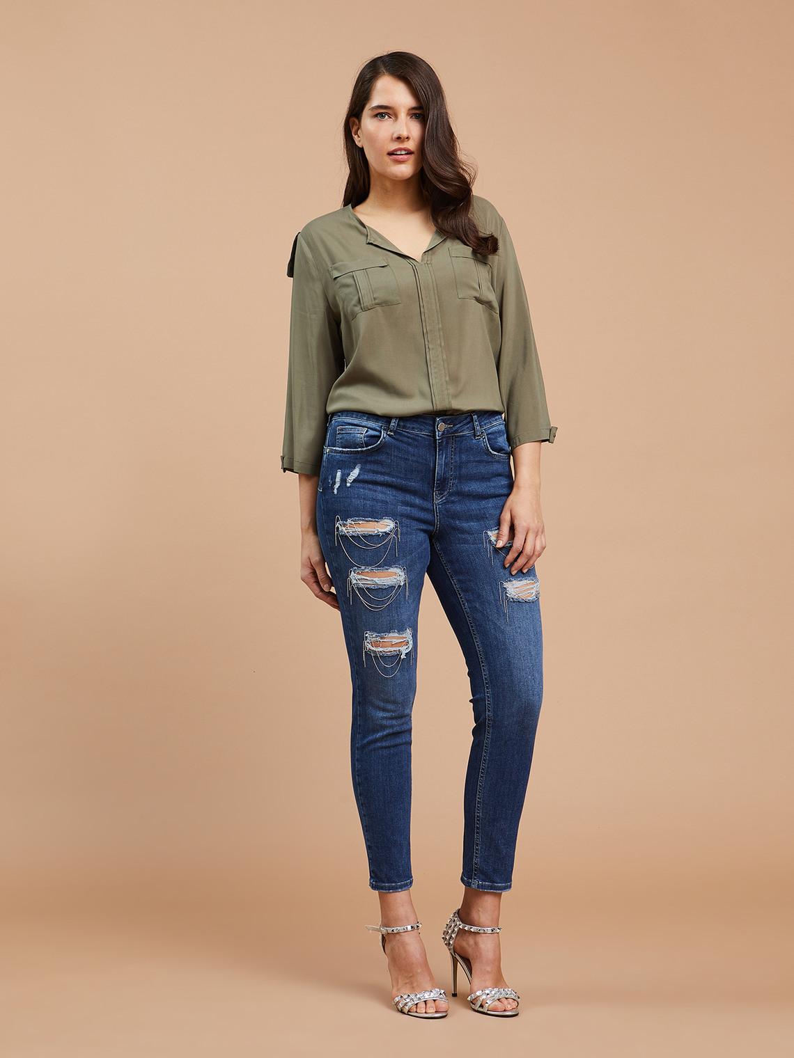selezione premium 019d3 d7fe4 Skinny jeans with rips - Fiorella Rubino - GB