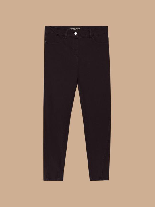 Jeans skinny donna brillanti pantalone tasca paillettes fascia oro laterale Abbigliamento e accessori