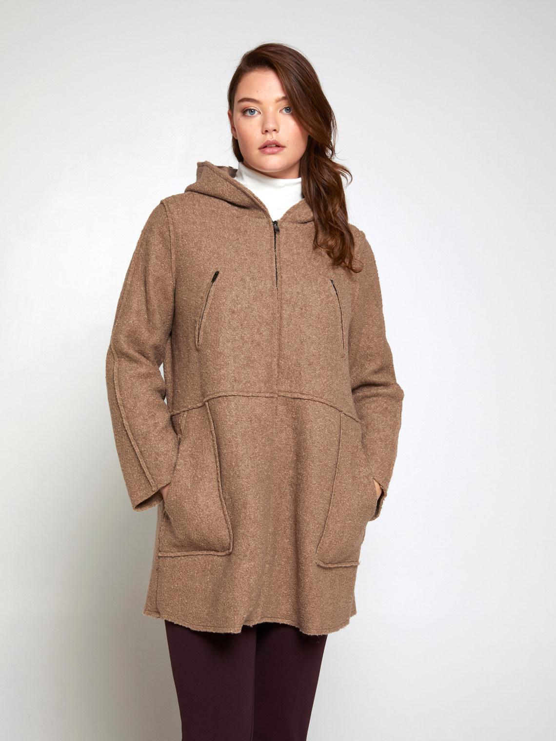 Cappotto in lana cotta con cappuccio - FiorellaRubino.com 632b5e49c1c3