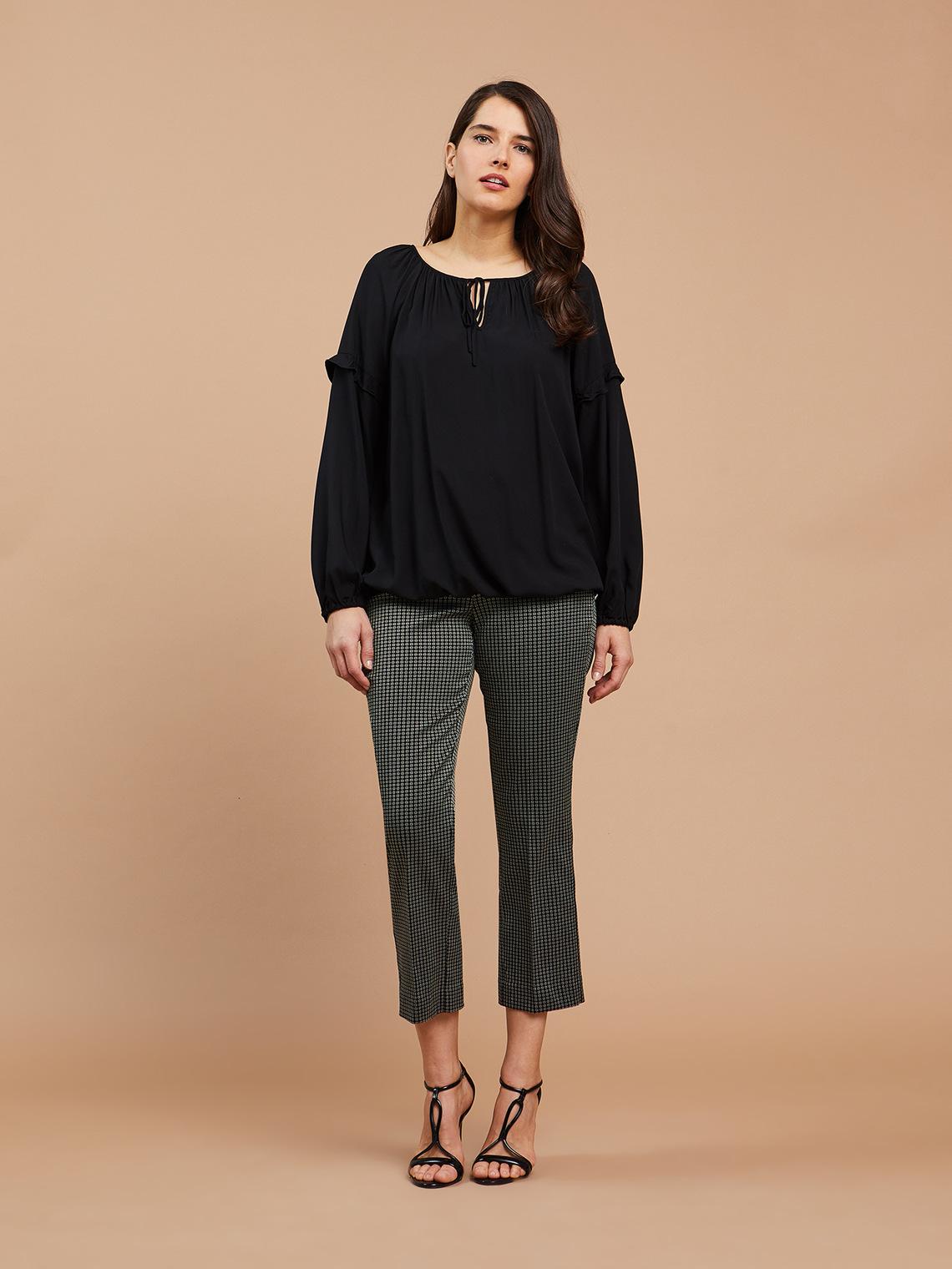 prezzo competitivo 4c036 ec883 Pantaloni dritti jacquard - Fiorella Rubino - ES