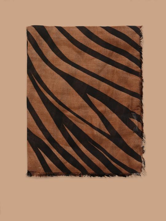 3f787c2396c Fiorellarubino  Schal mit Animalierdruck Braun 2 ...