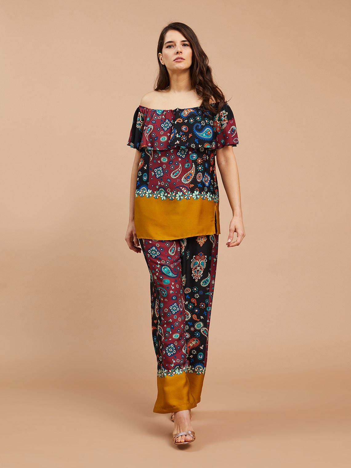 qualità superiore 93ae0 c16f1 Pantaloni dritti stampati - Fiorella Rubino - FR