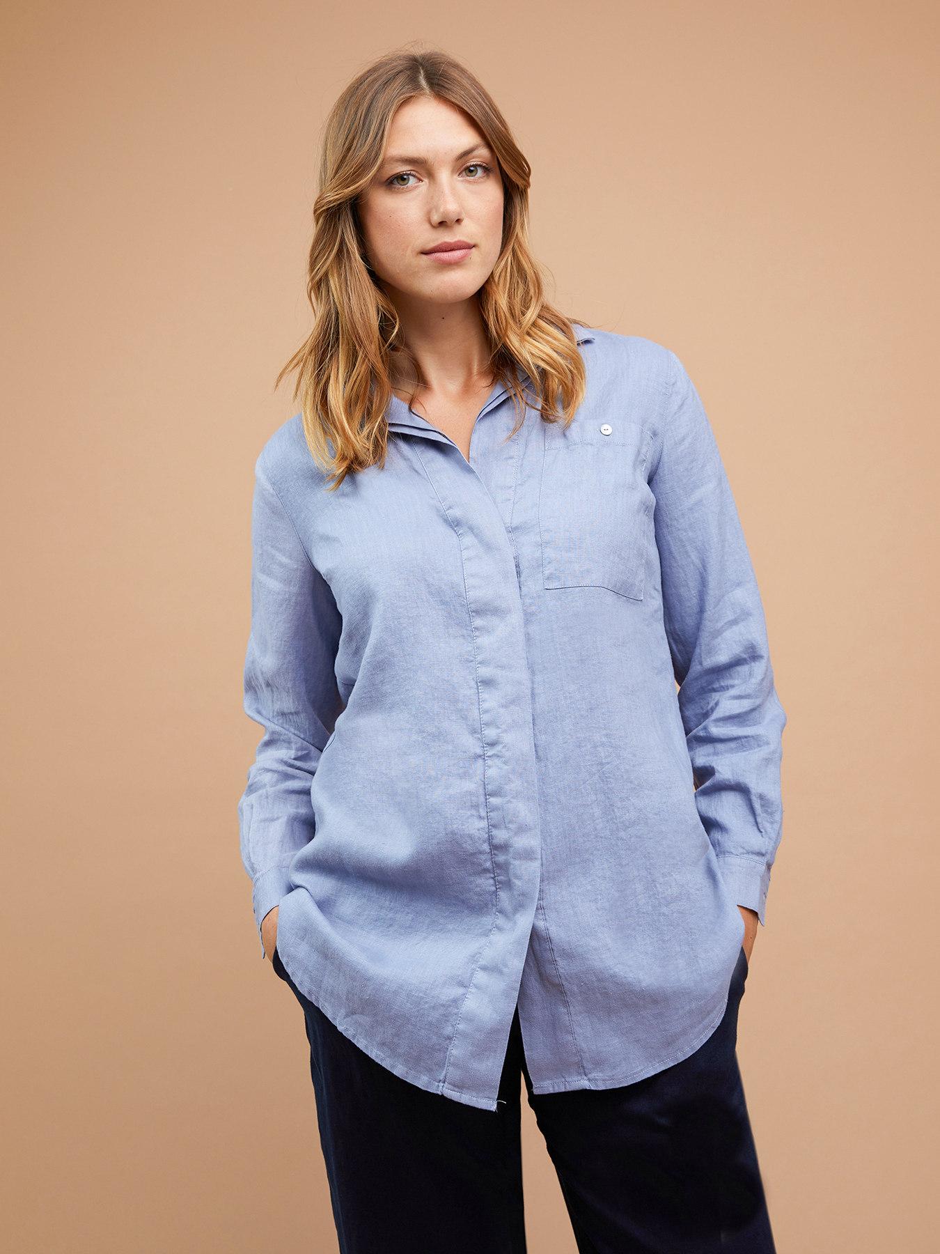 lowest price e386b 34e55 Camicia ampia in lino - Fiorella Rubino - FR