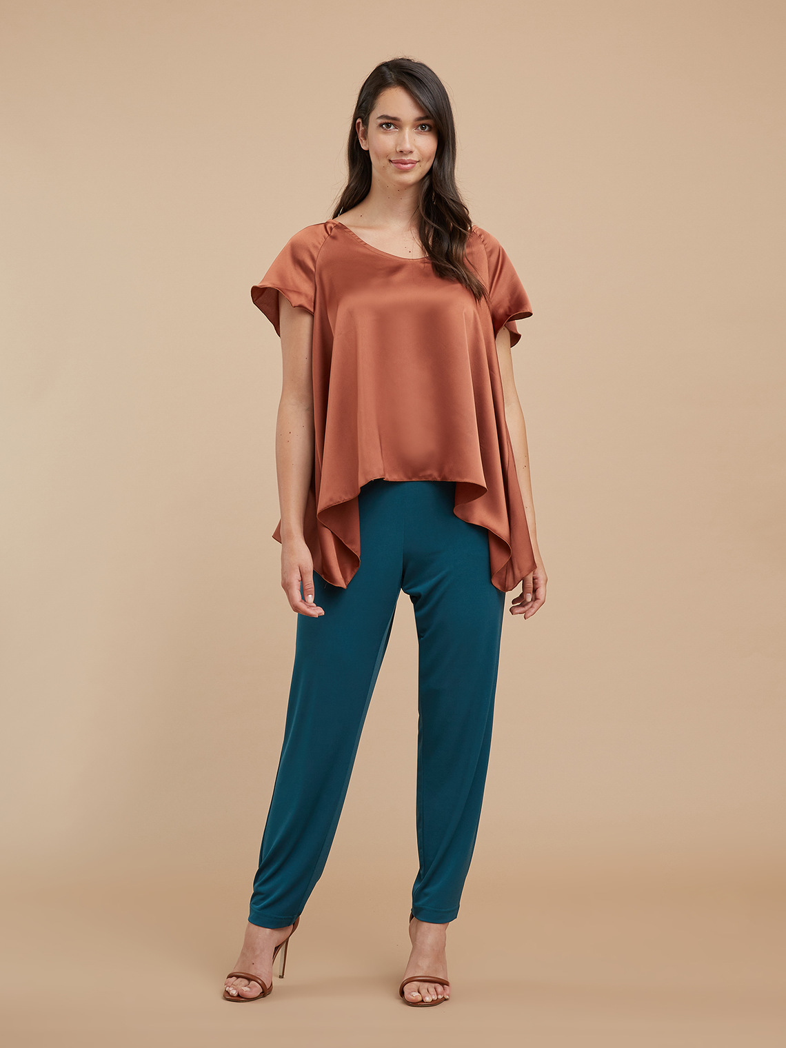Fiorellarubino: Pantaloni ampi in jersey_1