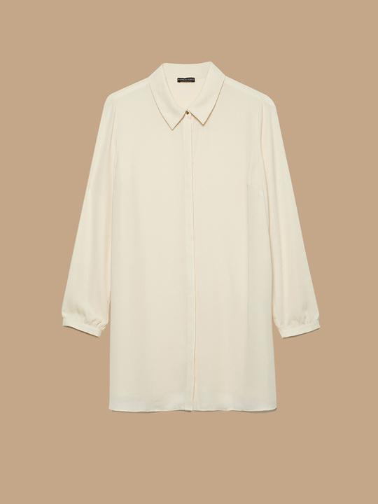 a9b7a4939c Fiorellarubino: Camicia lunga fluida Beige_1 Fiorellarubino: Camicia lunga  fluida Beige_1