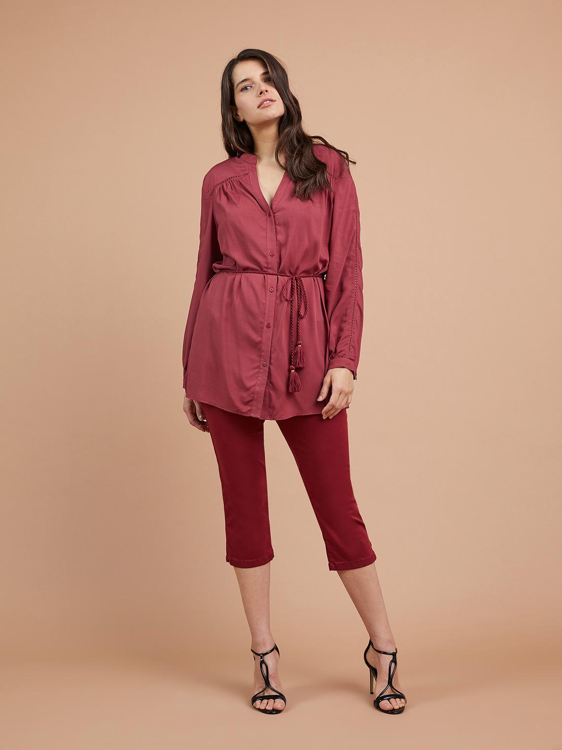 nuovo di zecca 179bb 0faca Pantaloni capri in denim color - Fiorella Rubino - FR
