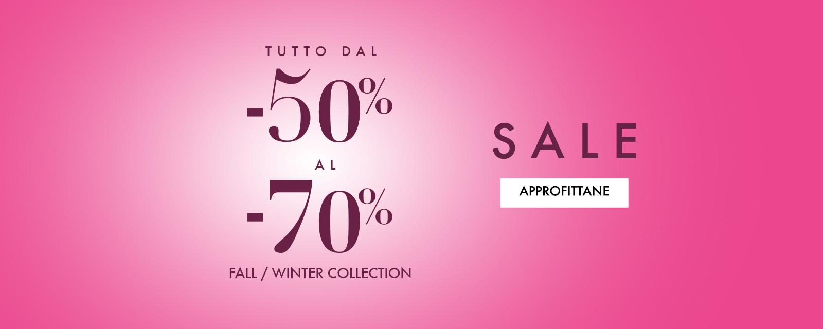 Fiorella Rubino - Saldi tutto dal -50% al -70%