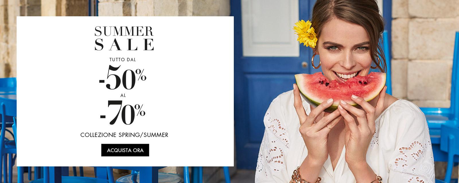 Fiorella Rubino: Summer Sale tutto dal -50% al -70%